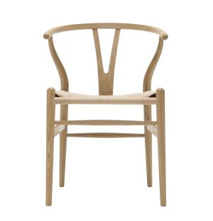 Chaise Wishbone CH24 bois et corde naturelle