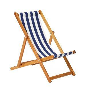 Chaise chilienne d'extérieur à rayures