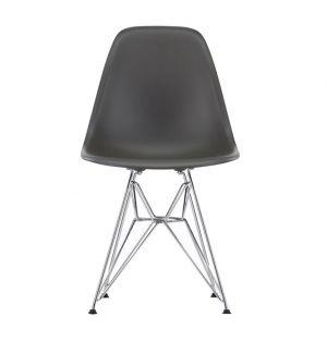 Chaise Eiffel DSR basalt - piètement chromé