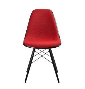 Chaise DSW Plastic Side tissu Hopsak - piètement érable noir