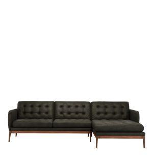 Canapé d'angle Elgin capitonné - droite