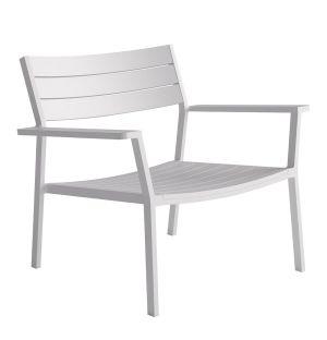 Fauteuil lounge Eos en aluminium