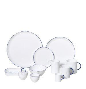 Collection de vaisselle Cobalt en porcelaine fine
