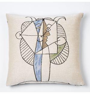 Housse de coussin Picasso - Tête de Faune Chevelu