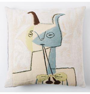 Housse de coussin Picasso – Faune Jaune Et Bleu Jouant De La Diaule