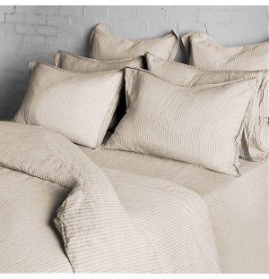 Linge de lit à rayures
