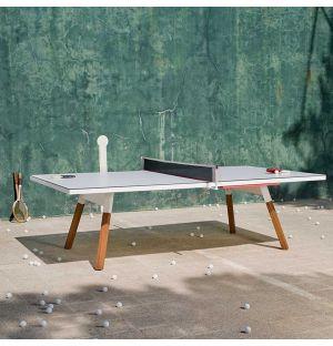 Table de ping-pong You & Me blanche