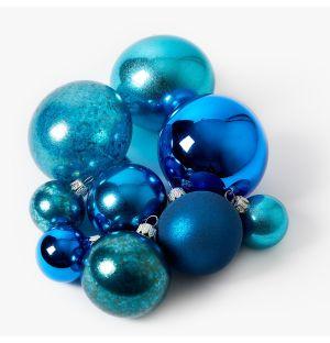 Collection de décorations de Noël - bleu