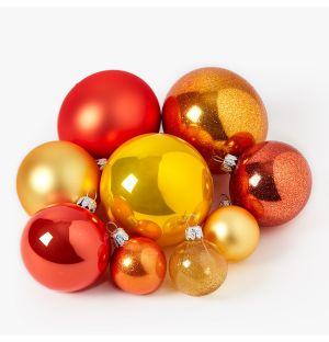 Collection de décorations de Noël - jaune