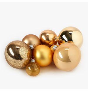 Collection de décorations de Noël - doré