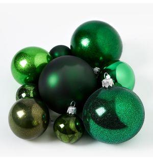 Collection de décorations de Noël - vert