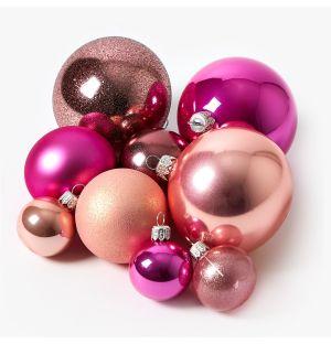 Collection de décorations de Noël - rose