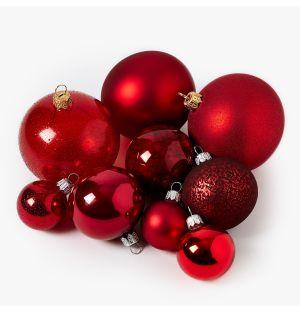 Collection de décorations de Noël - rouge