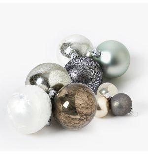 Collection de décorations de Noël - argenté