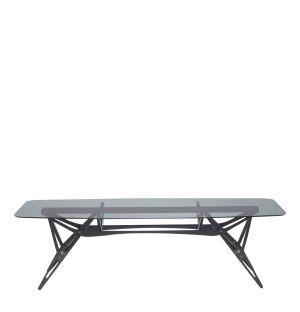 Table Reale en verre fumé et chêne noir - Exclusivité