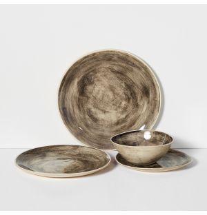Collection de vaisselle Organic Sand noire
