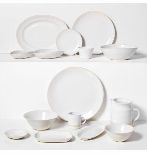 Collection de vaisselle blanche Organic Sand