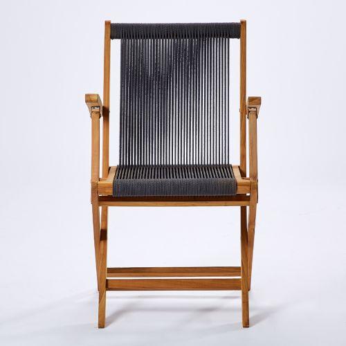 Chaise pliante à accoudoirs