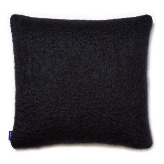 Housse de coussin en mohair noir - 50 x 50 cm