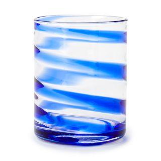 Verre Swirl bleu