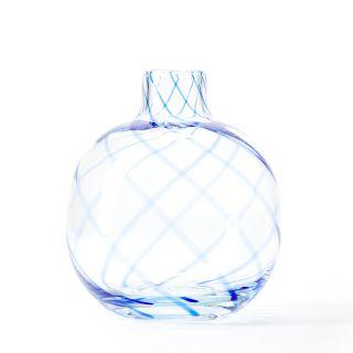 Vase rond Swirl bleu Conran