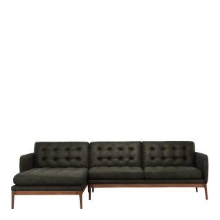 Canapé d'angle Elgin capitonné - gauche